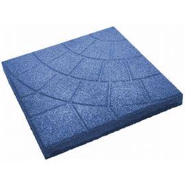 Плитка из резиновой крошки паутинка синий, 30 мм