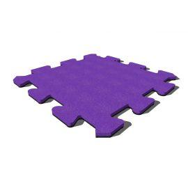 Плитка из резиновой крошки Пазл 50х50х4 см Premium фиолетовая