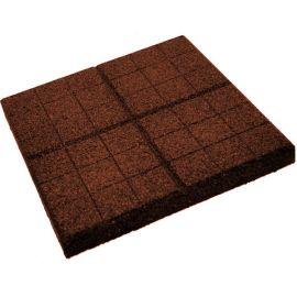 Плитка из резиновой крошки сетка коричневый, 30 мм
