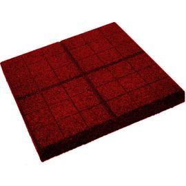 Плитка из резиновой крошки сетка красный, 30 мм