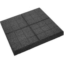Плитка из резиновой крошки сетка серый, 30 мм