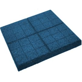 Плитка из резиновой крошки сетка синий, 30 мм