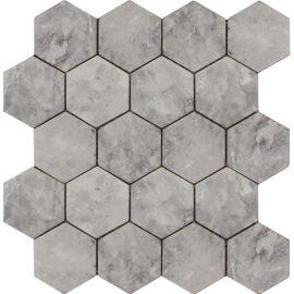 Мозаика Hexagon Lg Tumbled 74x74 мм из мрамора с матовой поверхностью