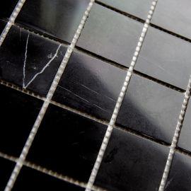 Черная мозаика из натурального мрамора Black Polished (JMST056)