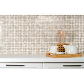 Мозаика Grey Polished (JMST026) 20x20 мм из натурального светло-серого мрамора для кухонного фартука