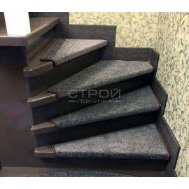 Коврики для винтовой лестницы Графит на липучках.