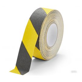 Черно-желтая абразивная противоскользящая лента Heskins