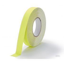 Флуоресцентная-желтая   самоклеющаяся лента противоскользящая шириной 2,5 см