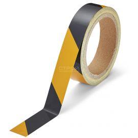 Черно-желтая светоотражающая разметочная лента Heskins