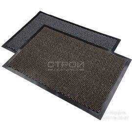 Темно-серые ворсовые коврики Профи влаговпитывающие с резиновым ворсом придверные