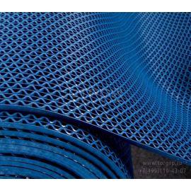 Грязезащитная дорожка ЗигЗаг синяя (змейка ПВХ)