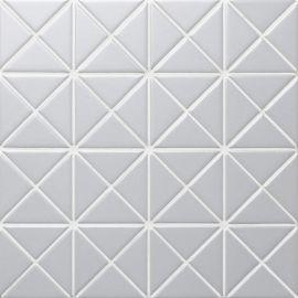 Albion Light Grey (TR2-BLM-P3) матовая керамическая мозаика Starmosaic светло-серого цвета.