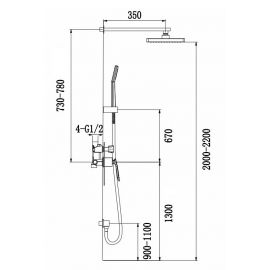 Душевая система Helmi SX-4069/00 SM-2100 с круглой лейкой