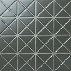 Albion Dark Olive (TR2-CH-P2) матовая керамическая мозаика Starmosaic темно-оливкового цвета