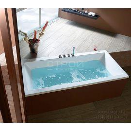 Акриловая ванна Alpen Marlene с широкой и глубокой чашей в интерьере.