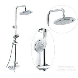 Душевая система Timo Helmi SX-1070/00-16 (412) хром-белый для ванной с круглой лейкой