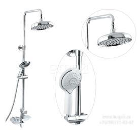 Душевая система Helmi SX-1070/00-16 (712) хром-белый для ванной с круглой лейкой