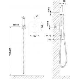Смеситель Timo Selene 2089 с гигиеническим душем - размеры