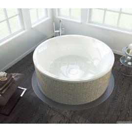 Круглая акриловая ванна Oblo 165 Alpen в интерьере