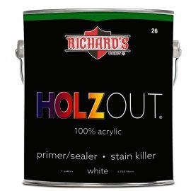 Универсальная грунтовочная краска, блокирующая пятна Holzout. 100% акриловая грунтовка / герметик-пятновыводитель