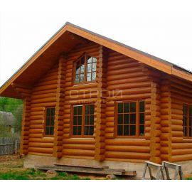 Летний домик покрытый защитной глазурью Wood Stain.