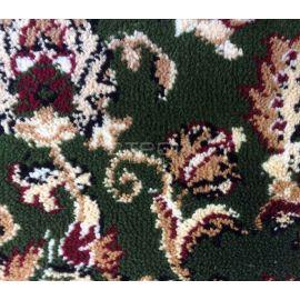 Фактура ковролина зеленого коврика на домашнюю деревянную лестницу.