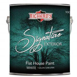 Акриловая краска универсальная для внутренних наружных работ Signature Flat с керамическими шариками.
