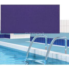 Матовая плитка Атланта синий 12х24,5 в чашу бассейна