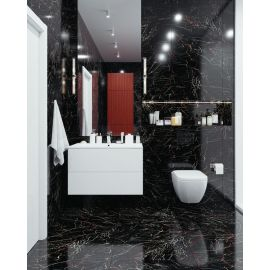 Керамогранитная Плитка Palacio Molten Black 60x120 High Gloss в интерьере