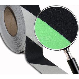 Клеющаяся светящаяся лента  -  сигнальная разметка с противоскользящим абразивным слоем