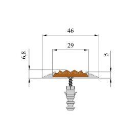 Технические размеры антискользящей накладки на ступени — Next АП46.