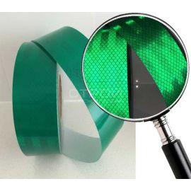 Зеленая световозвращающая микропризматическая пленка.