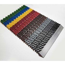 Алюминиевый профиль порог в сборе с модулями грязезащитного покрытия