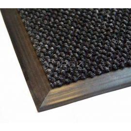 Окантовка резиновой кромкой серого ворсового грязезащитного покрытия