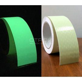 Сравнение как лента светится в темноте и меняет цвет  при дневном свете.
