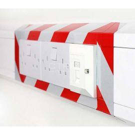 Светоотражающую самоклеющуюся ленту можно использовать для обозначения опасных электрических объектов.