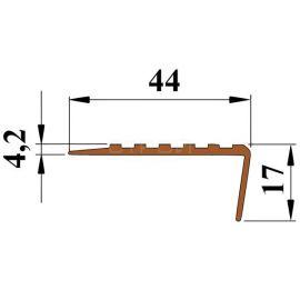 Технические размеры противоскользящей накладки на угол ступени - Next У44.