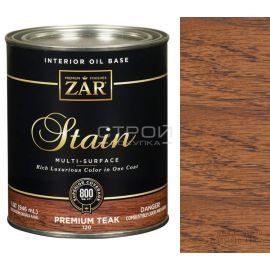 120 Premium teak Zar Stain Льняное тонирующее масло по дереву