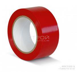 Красная ПВХ лента для разметки и маркировки