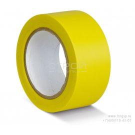 Желтая лента ПВХ для разметки и маркировки.