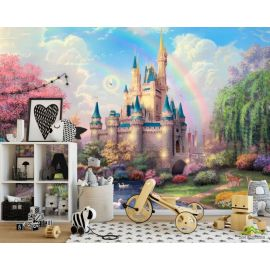 3D Фотообои Замок для детской