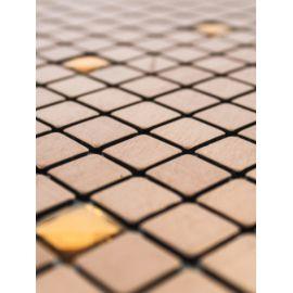 Металлическая мозаика со стразами LP04D бронзового цвета