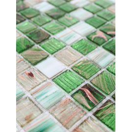JS-09 мозаика зелёный микс 2х2 см