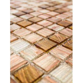 Бежево-прозрачние мозаичные чипы на сетке