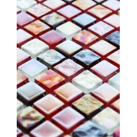 Мозаика на сетке стеклянная состоит из трех цветов DGS016