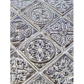 Рельефная мозаика KG4803 коричневого цвета
