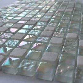 Мозаика на сетке стеклянная DGS018
