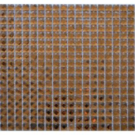 F15x3 мозаика из страз цвета коньяка