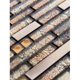 XY160 мозаика стекло, стразы и металл