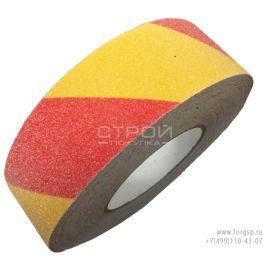 Желто-красная лента 60 grit сигнальная противоскользящая лента